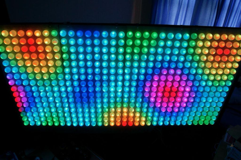 One Of The First Prize Winnersu0027 Projects Was A Light Show Made Of A Board  Of Ping Pong Balls. Home Design Ideas
