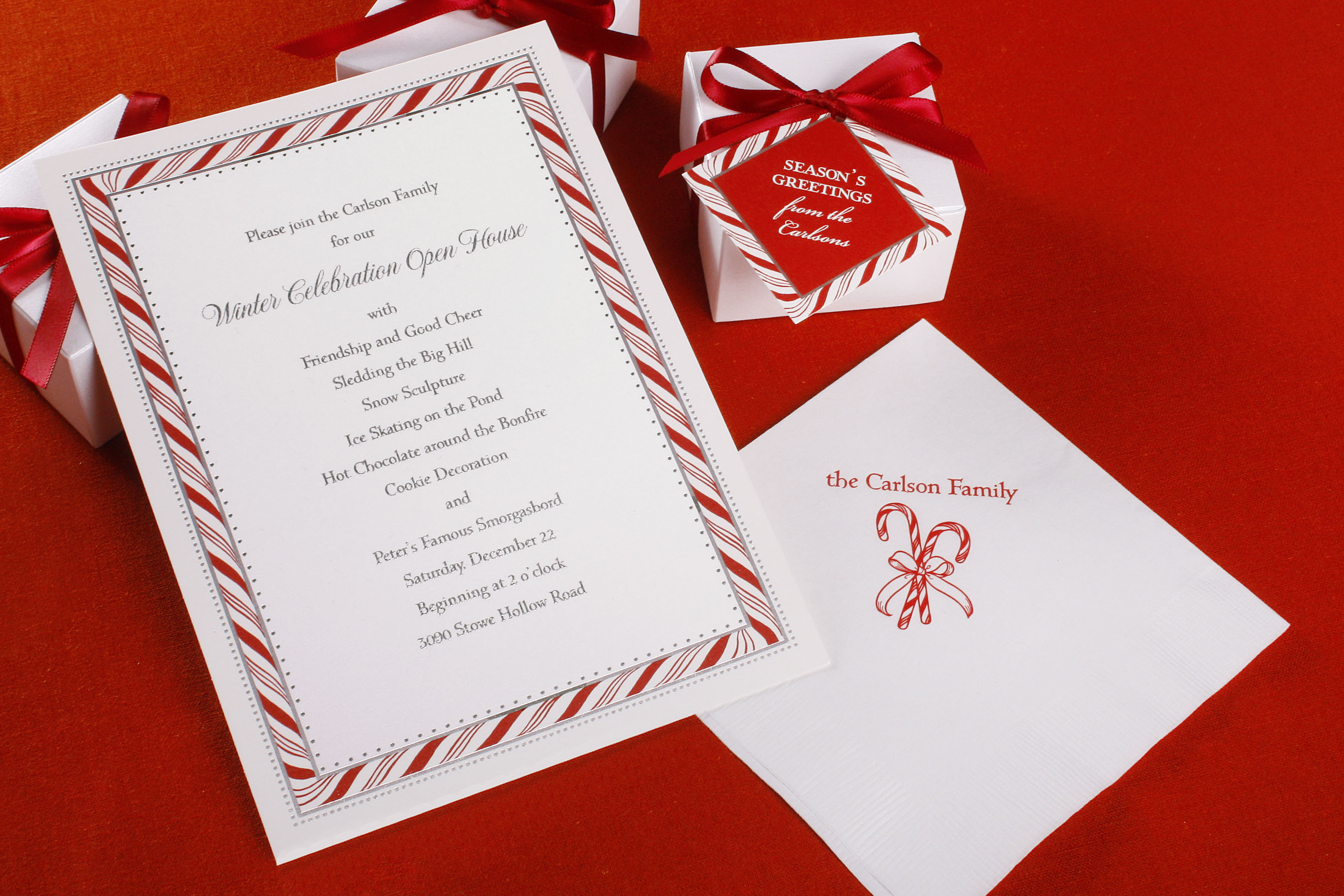 William Arthur Expands Collection to include Holiday Entertaining productsWilliam Arthur Holiday Invitations, Napkins & Favor Boxes