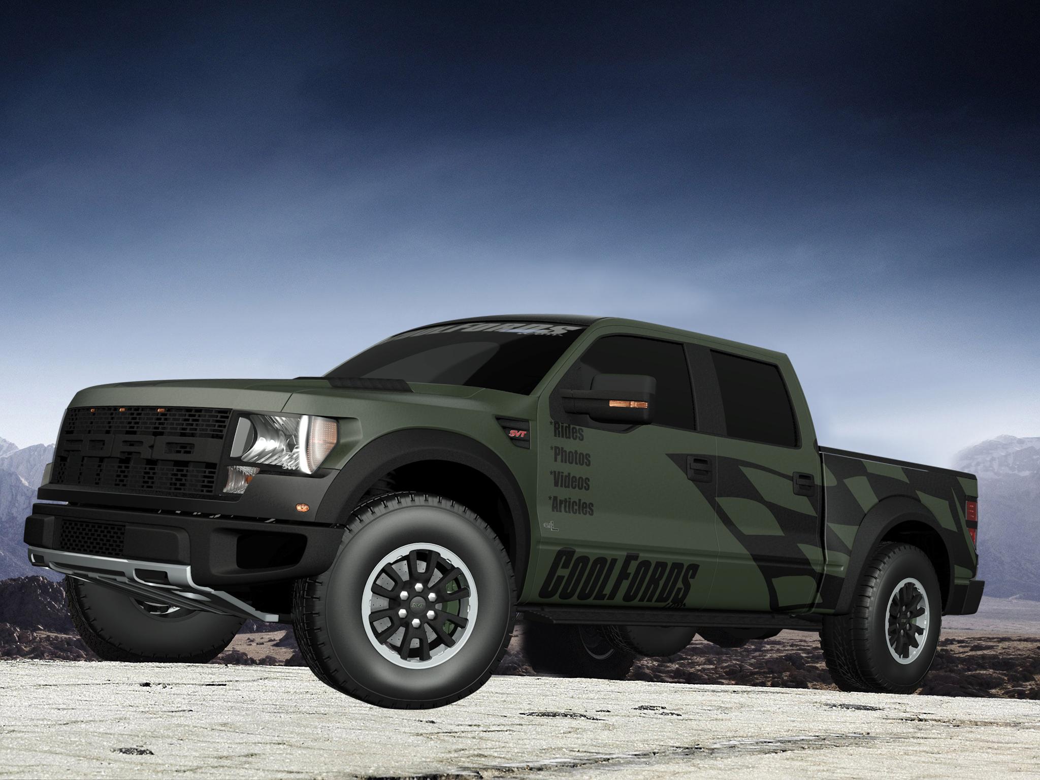 Coolfords Com Digitally Creates Army Green F 150 Svt