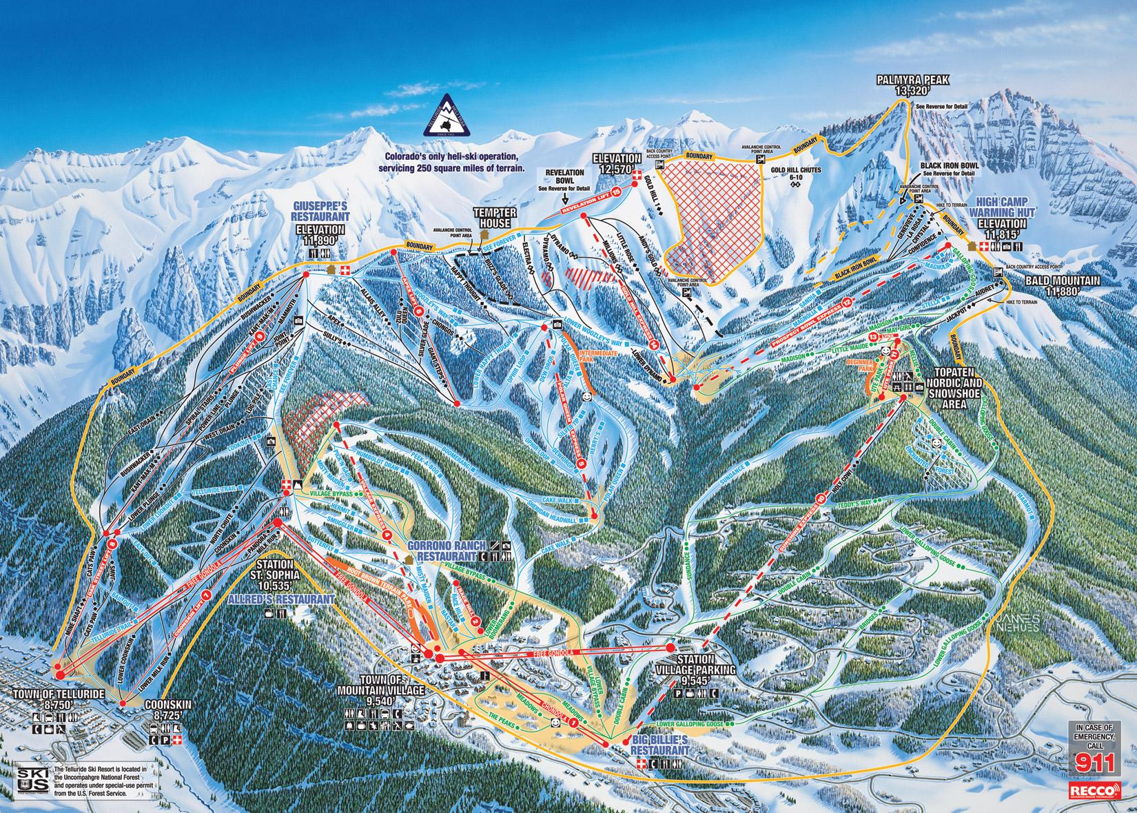 telluride ski resort ranks 5th overall best ski resort in north