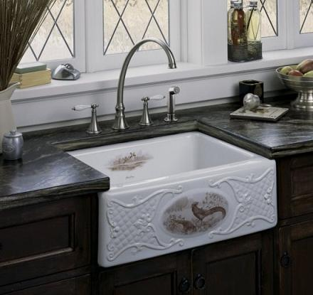 Exceptionnel Tidings Game Birds Design On Alcott Fireclay Sink From Kohler ...