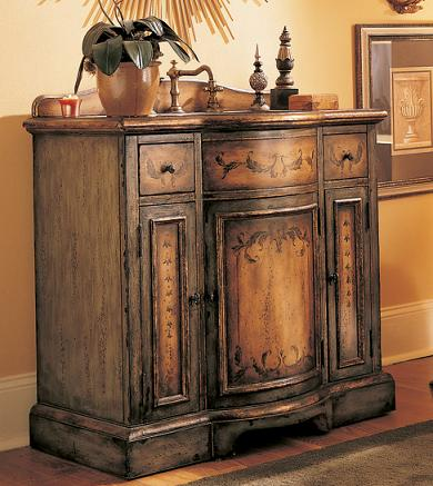 Weathered Wood Bathroom Vanities For A Cottage Style Bathroom Are Introduced By Homethangs Com