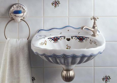 Period Inspired Powder Room Wall Sinks And Accessories Are