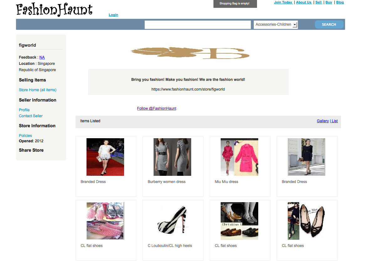 Buyers and Sellers of FashionHaunt can Now View the Store