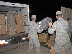 The New Jersey National Guard assists the GI Go Fund as they work to provide emergency supplies and disaster relief to people in need following Hurricane Sandy.