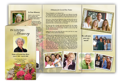 The funeral program site superstore launches unique easy for Memorial pamphlets free templates