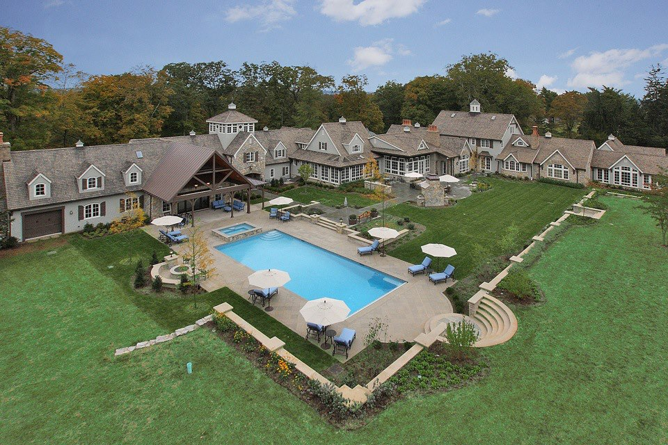 Far Hills NJ Inground Swimming Pool Awarded for Design on Backyard Inground Pool Landscaping Ideas id=55158