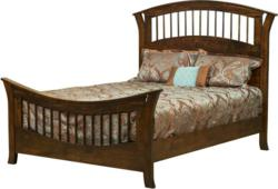 The Cherokee Spindle Bed blends traditional and modern styles.
