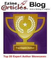 Celebrating EzineArticles Top 20 Expert Author Showcases
