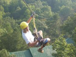 Screaming Eagle has 40,000 lineal feet of zip line course and has 84 lines
