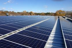 Beaumont Solar Company's solar rooftop on Mass Premier Courts in Foxboro, MA