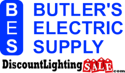 Butler's Electric Supply and Discount Lighting Sale Logos