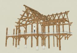Join New Energy Works Timberframers as they raise the frame for a family home in Tennessee.