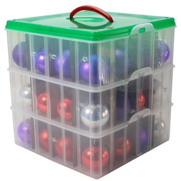 Christmas Ornament Storage Box Image Of Wing Lid ...