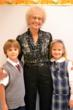 Arlene Martinek of Orland Park with grandchildren Debbie and Jack, first graders at Everest Academy