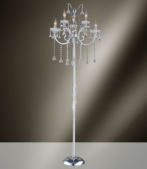 The interior gallery adds new lamps and sconces to their lighting rosalyn k9 crystal chandelier floor lamp at the interior gallery aloadofball Choice Image