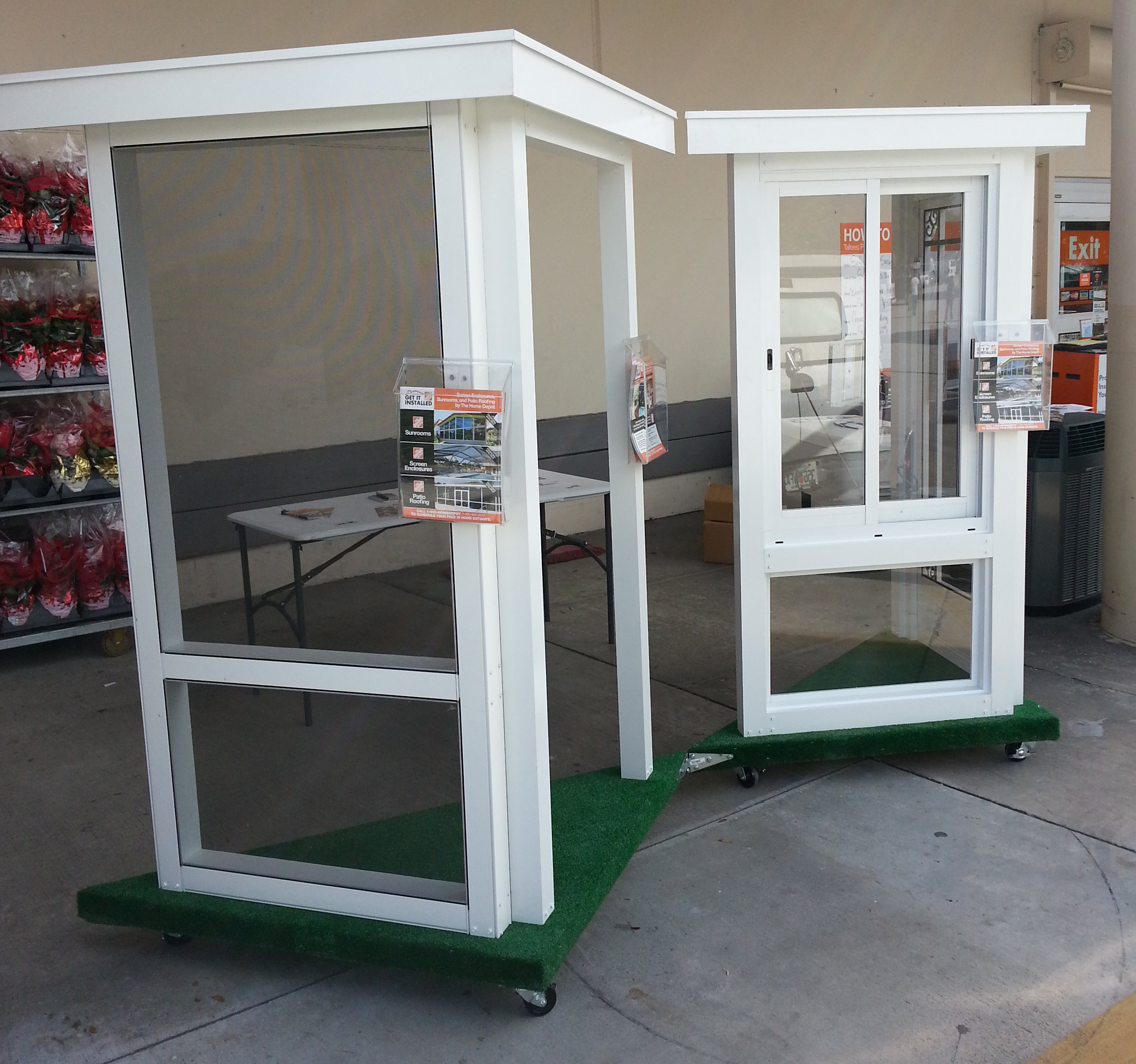 Venetian Builders, Inc., Miami, Recently Delivered Custom-Made Sales Display Of Sunroom, Patio