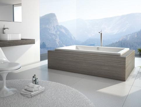 Kava Drop In Tub From MAAX In Laminate Wood Bathtub Mount ...