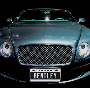 One Texan Will Be The Only To Have Bentley On His Or Her Official Texas License Plate Great Auction 2017 From Myplates At Houston Auto