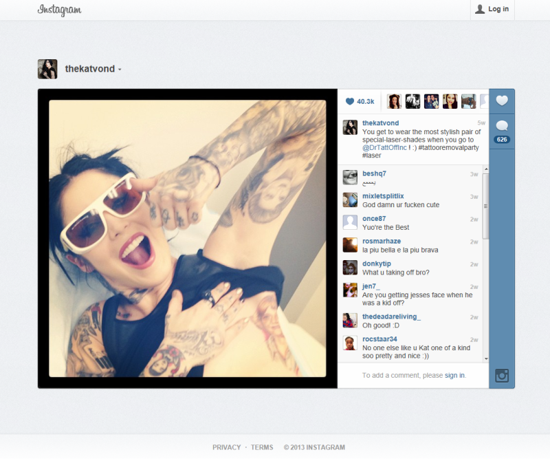 Kat Von D Visits Dr Tattoff Laser Tattoo Removal Clinic To Get