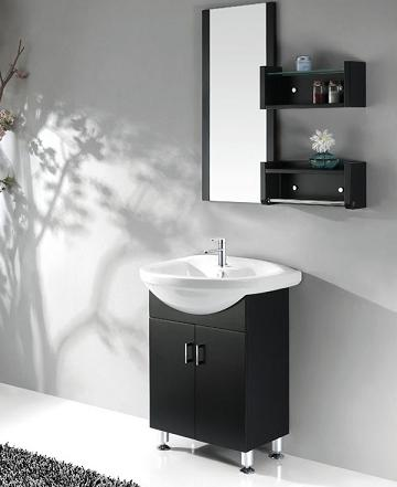 Black Bathroom Vanity With Ceramic Basin From Legion Furniture Flower And White