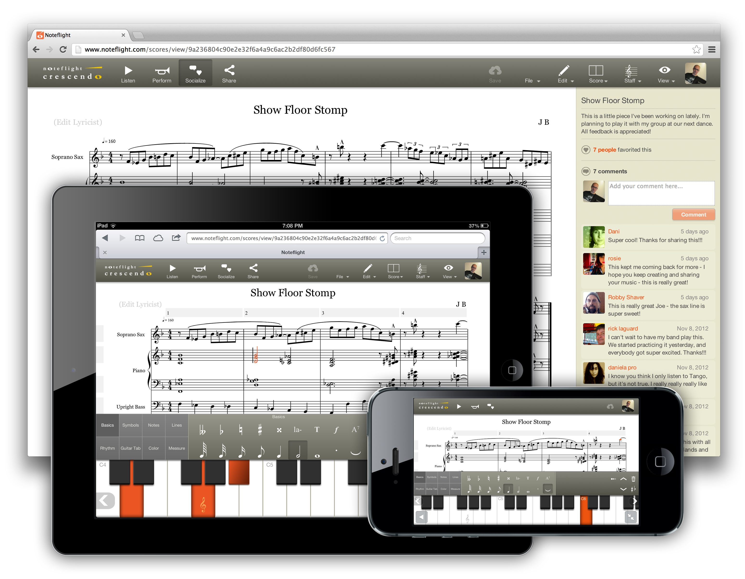 Noteflight's Cloud-Based Music Notation Tool Goes Mobile
