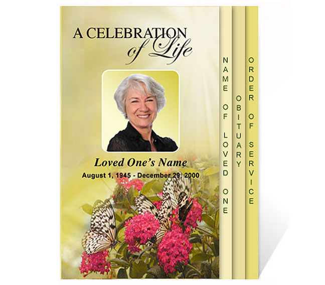 New funeral program templates are now available at the for Free celebration of life program template