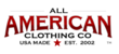 Look for made in USA clothing and accessories at the All American Clothing Co.