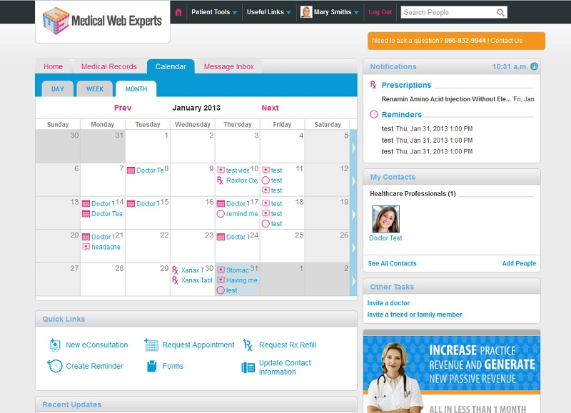 Patient Portal Developer Medical Web Experts Releases