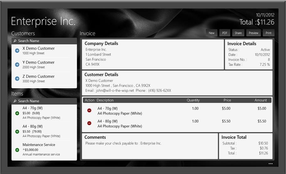 Invoice App On Windows Store Aids Printing Of Multipage Invoices On - Invoice app for windows 10