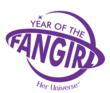 "Her Universe ""Year of the Fangirl"" logo"