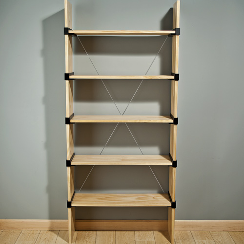 Front View Of Cross Strap On Bookshelf