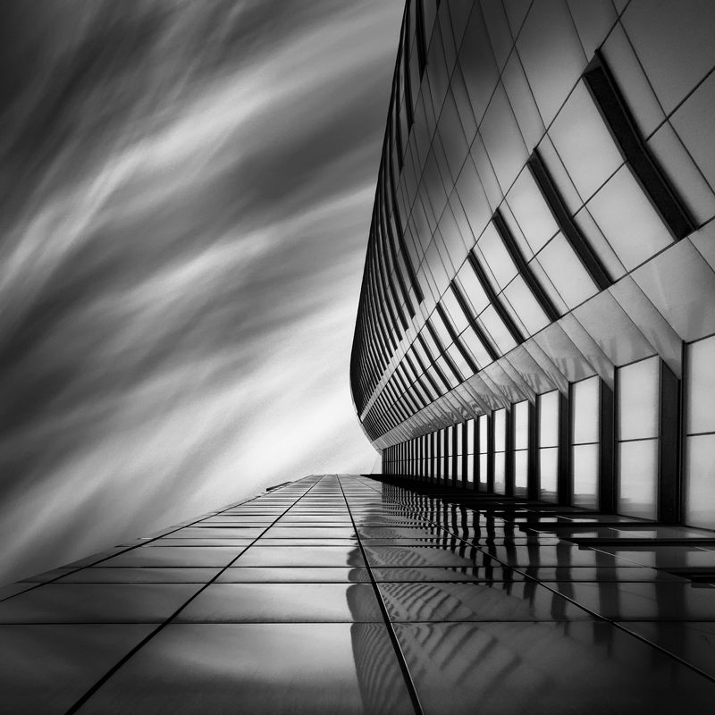 Modern architecture in vienna by using long exposure techniques