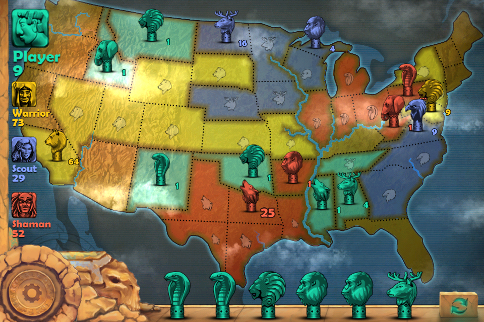 Conquer the world totems conquest game occupies the itunes app store totems strategy board america maptotems map screenshot gumiabroncs Choice Image