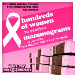 Quality Mat charity efforts range from pink mat rentals to helping others in their time of need
