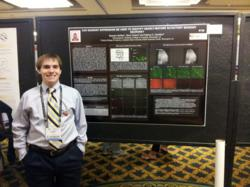 Centenary student Brandon McRae presenting at SfN conference