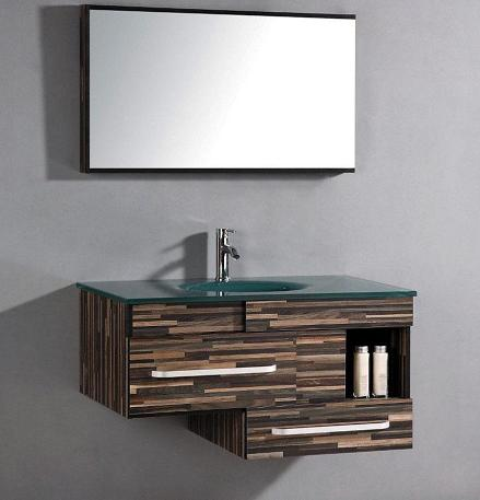 Asymmetrical Wall Mounted Bathroom Vanity From Legion Furniture WTH9032 ...