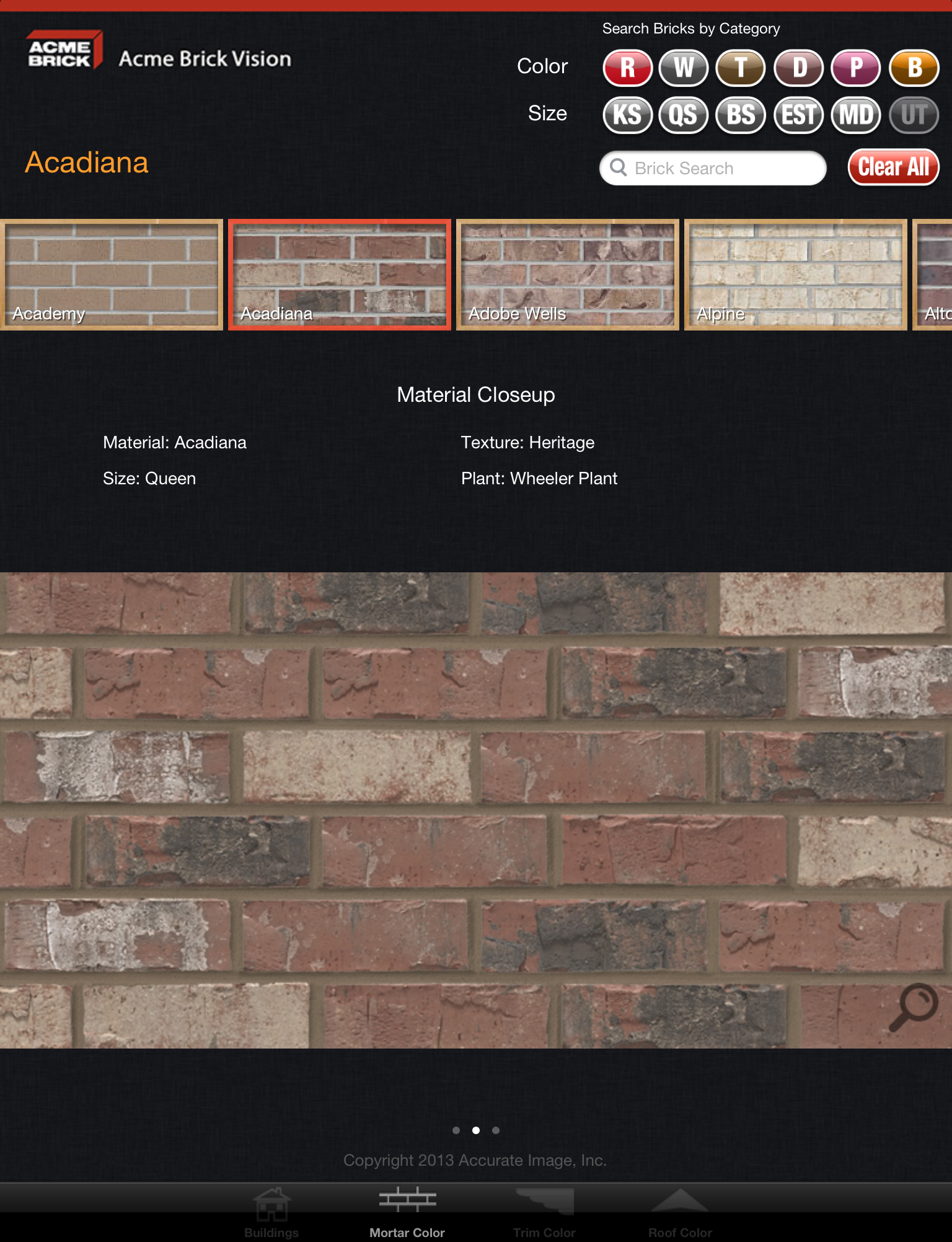 Acme brick company debuts new mobile app acme brick for Brick selection for houses