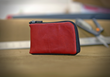 The Finn Leather Wallet—deer-tanned leather in Red color option