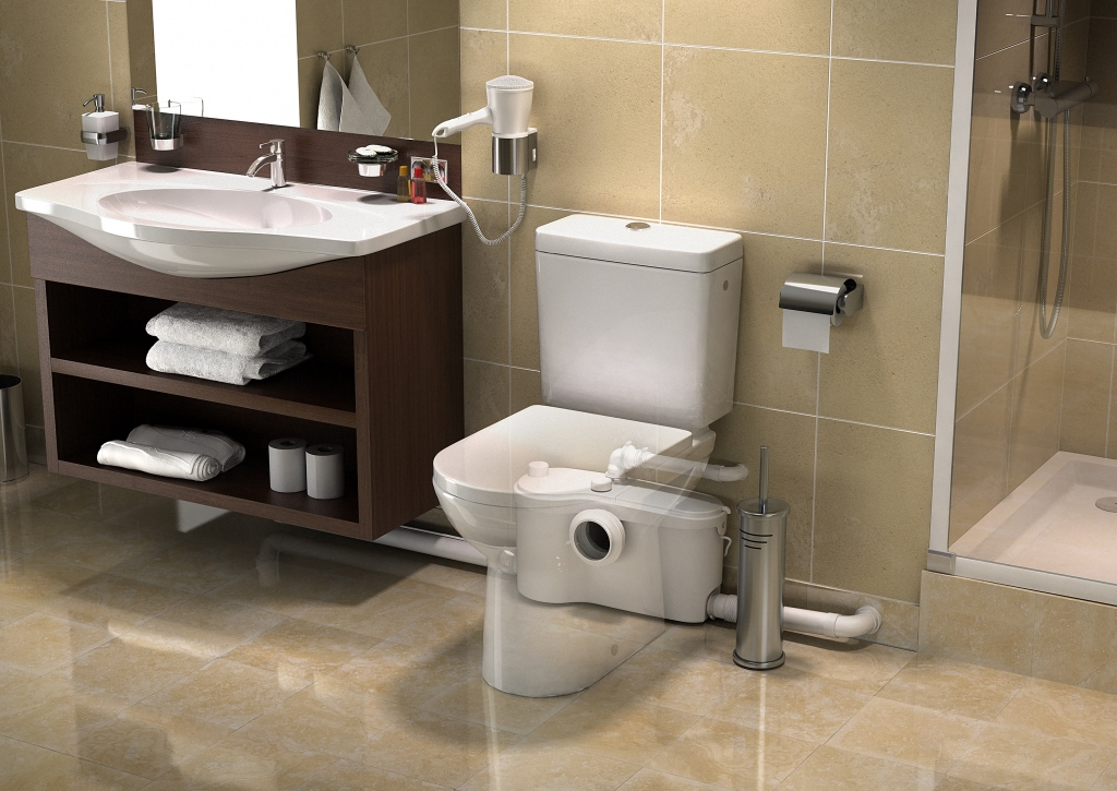 Upflush plumbing systems like those from Sanilfo enable remodelers to add a full bathroom virtually anywhere. & Four Tricks to Add a Bathroom Anywhere in Your Home