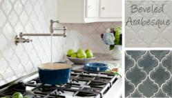 Beveled Arabesque Moroccan Tile Backsplashes