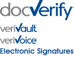 DocVerify, the leader in secure electronic signatures with the VeriVault verification system.