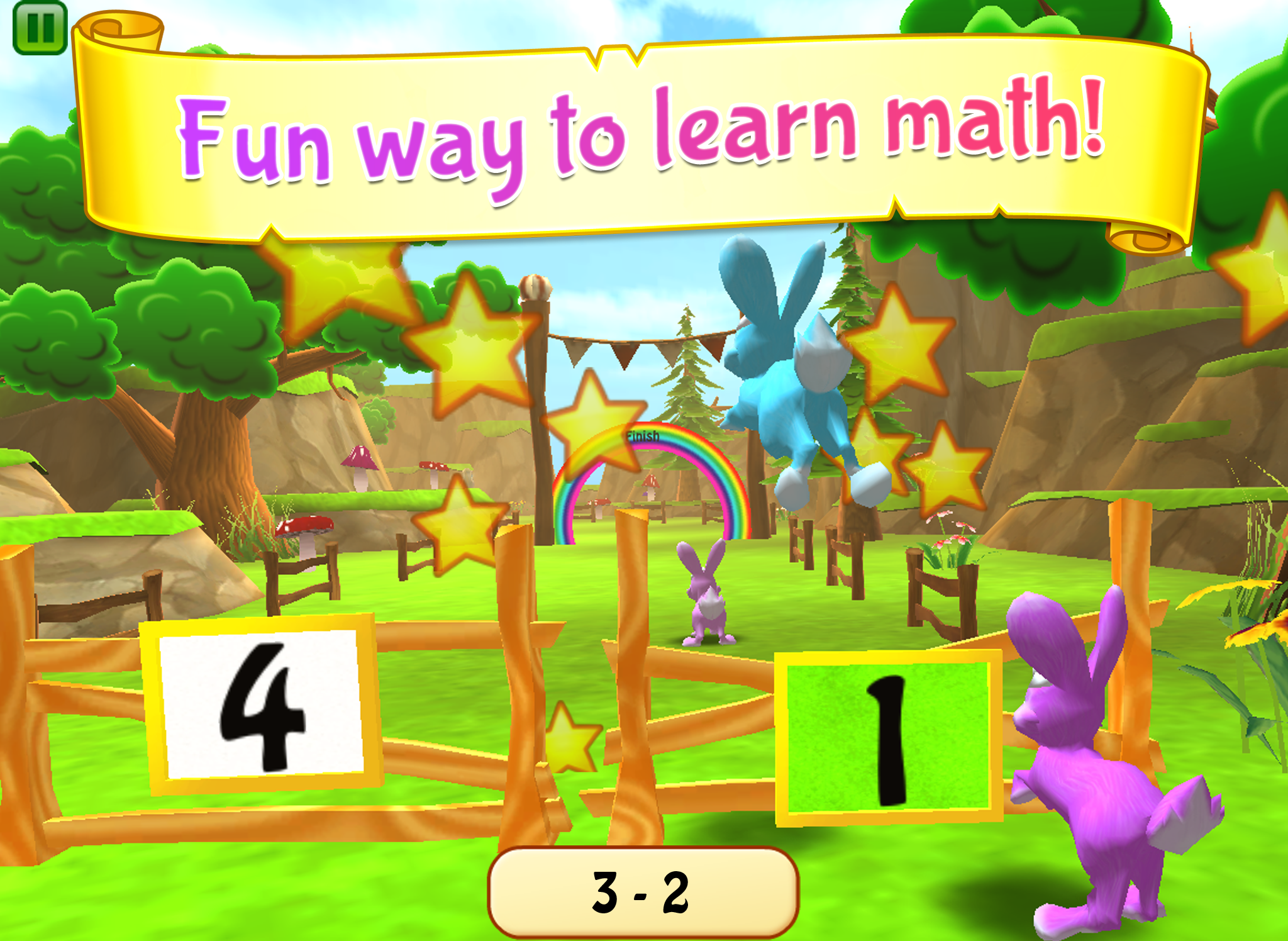 Educational Summer Fun Bunny Math Race Game for 3 8 Year Old Kids