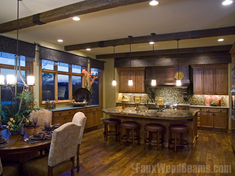 Faux Wood Beams With The Hand Hewn Look But Not High Cost Fake That Have Carefully Crafted Earance Of Logs