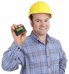 Factory Worker with Pager