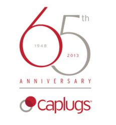 Caplugs 65th Anniversary Logo
