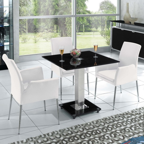 Furnitureinfashion Launches A Stunning Square Ice Dining Table In Clear Glass With Four Chairs