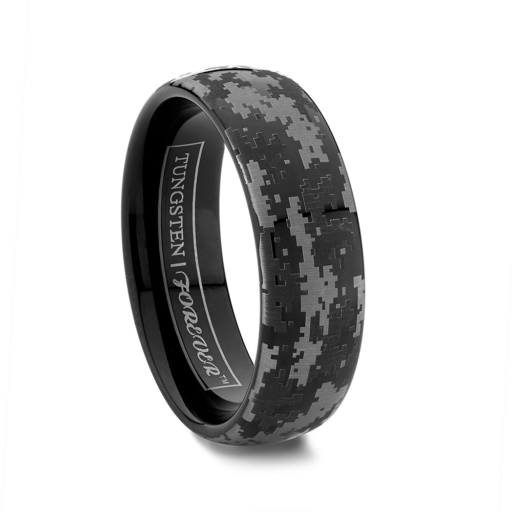 Camo Silicone Wedding Rings