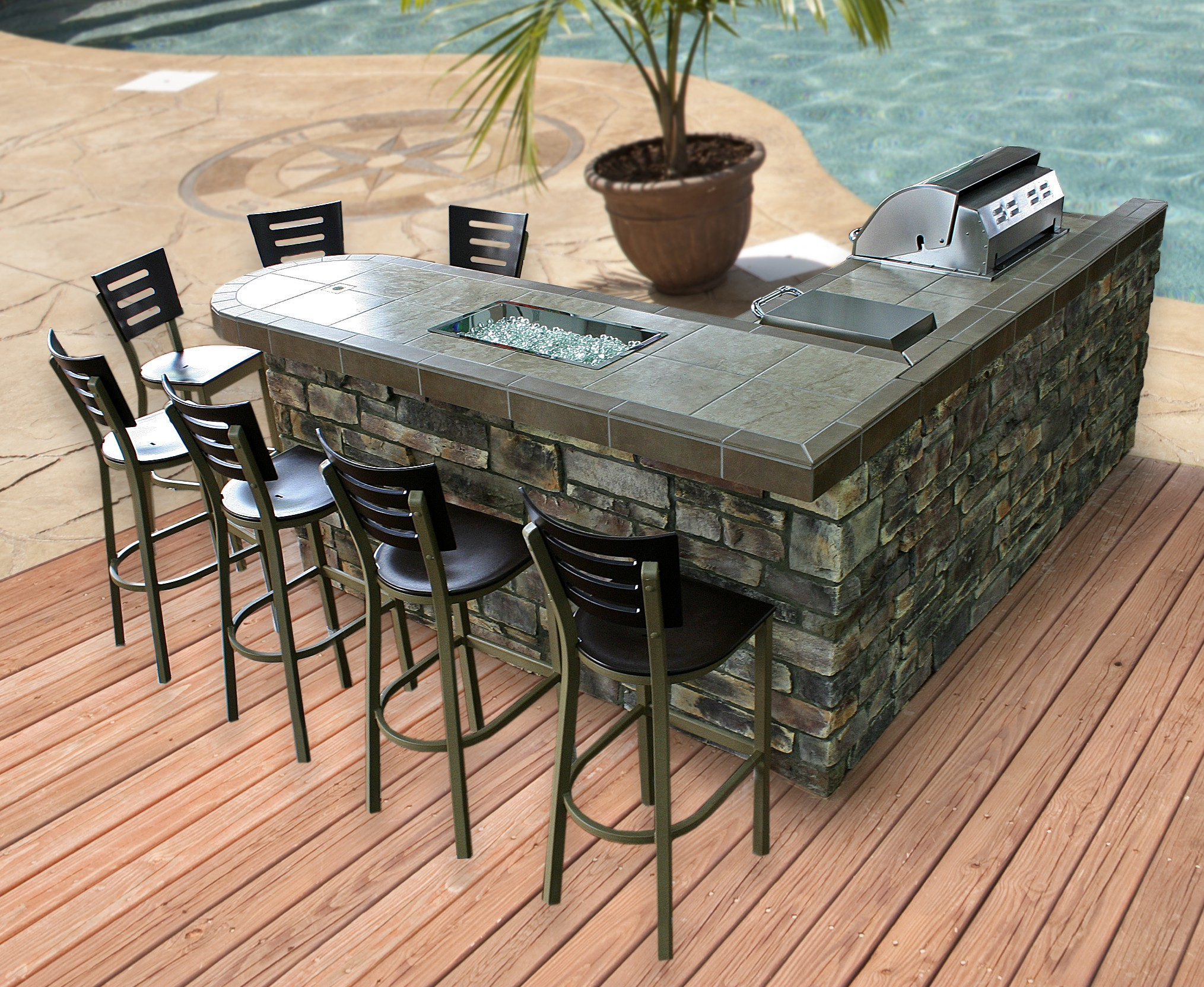 Best in Backyards Announces Newly Remodeled Showroom in ... on Backyard Patio Grill Island id=79341