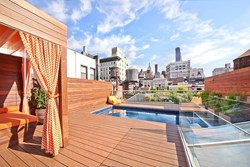 endless pool, outdoor pool, swimming, water exercise, rooftop pool, New York City